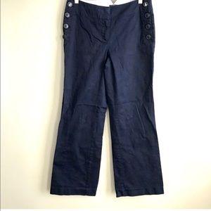 Loft navy blue Julie trouser size 0